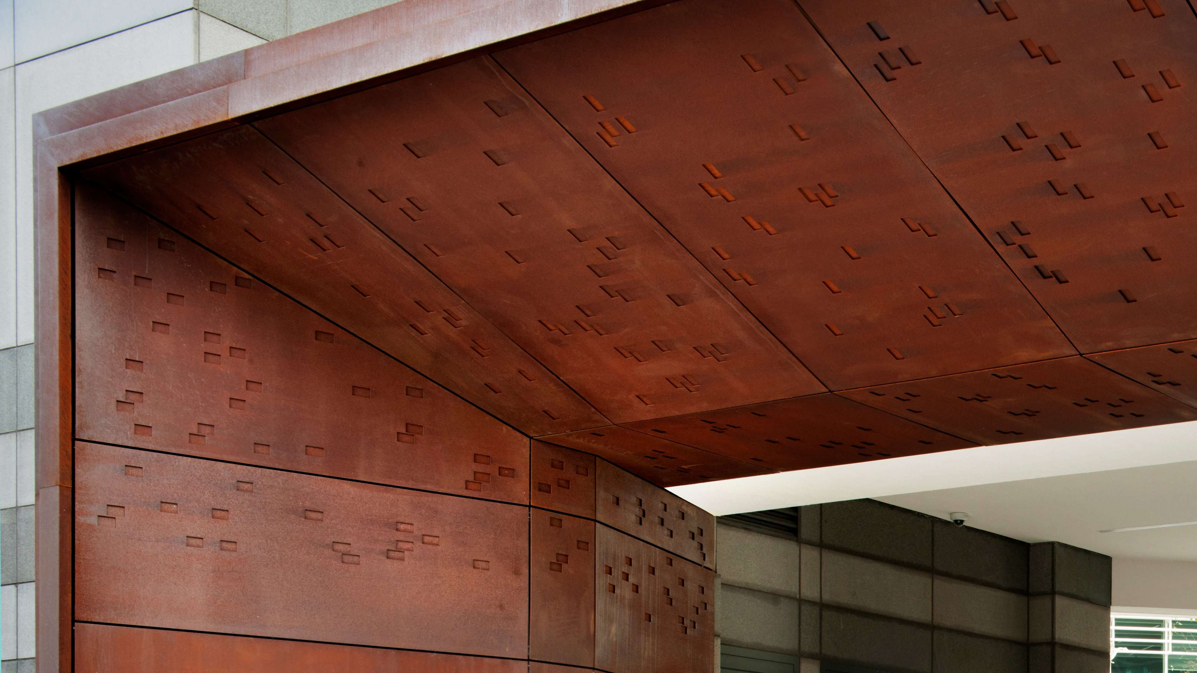 POHL weathering steel: Thomas More Square