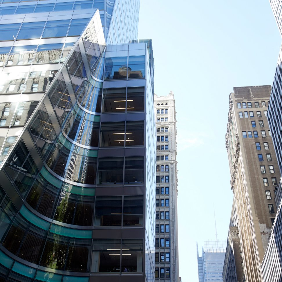 "Project image ""7th Bryant Street""; Stainless steel facade"