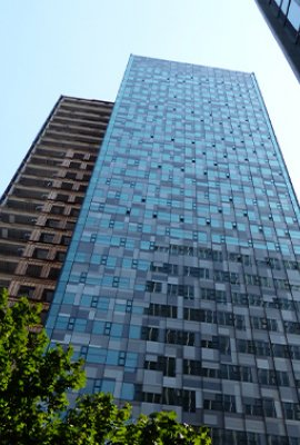 "Square view ""Amazon Doppler Building""; Stainless steel building cladding"
