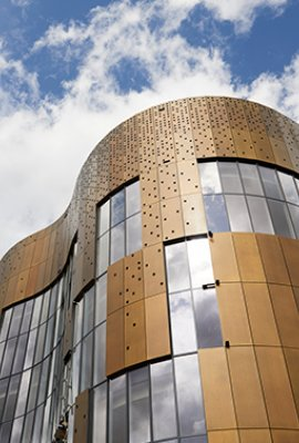 """City Plaza Wuppertal""; Brass facade"